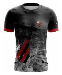 Camiseta Futebol Club Athlético Paranaense (Atlético) Preto e Vermelho CAP Furacão