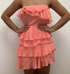 Vestido tomara que caia rosa tamanho 38