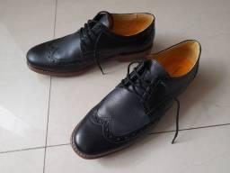 Calçado social Oxford couro preto