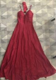 Título do anúncio: Vestido de Festa Marsala veste P/PP