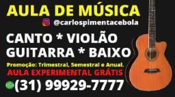 Aula Grátis Experimental Violão Canto Guitarra e Baixo. Iniciante ao Avançado!