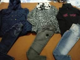 Lote de roupas para meninas tamanhos 8 anos