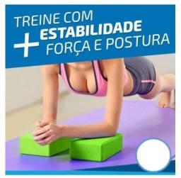 (o par) Bloco Para Exercícios EVA Alongamento Yoga Pilates multifuncional