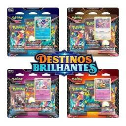 Título do anúncio: Kit Cartas Pokémon Triplo Pack Destinos Brilhantes