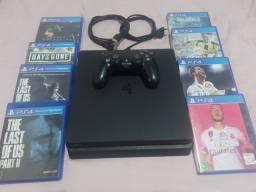 Título do anúncio: PS4 Slim 500gb + 8 jogos
