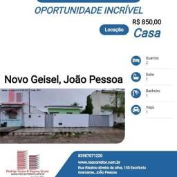 Casa para Locação em João Pessoa, Gramame, 2 dormitórios, 1 suíte, 1 banheiro, 4 vagas