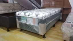 Cama box solteiro 10 cm espuma - Novo
