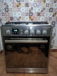 Fogão Inox espelhado automático funcionando perfeitamente!!!
