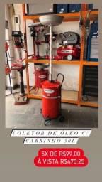 Título do anúncio: Coletor de óleo c/carrinho 50L Lumagi