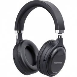fone de ouvido bluetooth entrada para cartao micro-sd preto