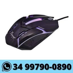 Mouse Gamer com Led 1600 Dpi 3 Botões Knup