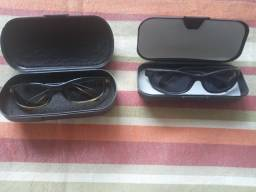 Título do anúncio: Pacote c/2 Óculos de Sol,  Italy Design, novos com estojo