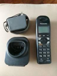 Telefone  sem fio  Panasonic,  com secretária  eletrônica.
