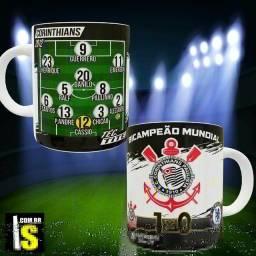 """Caneca """"times históricos"""" - Corinthians 2012"""