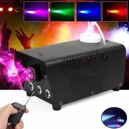 Título do anúncio: Máquina Fumaça 600w Iluminação Led Rgb + Controle (entrega Gratis )
