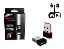 Título do anúncio: Mini Adaptador wifi Wireless placa wifi usb Notebook e Computador