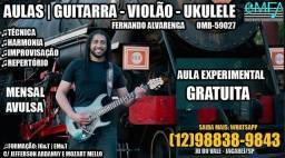 1a. AULA GRÁTIS - Guitarra - Violão - Ukulele