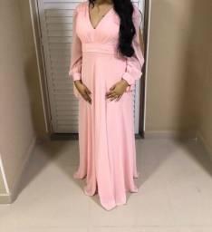 Título do anúncio: Vestido Fluido Rosa claro