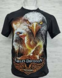 Camisa estampada do Harley Davidson