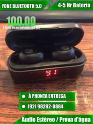 Fone Bluetooth 5.0 4 Horas bateria sem carregar