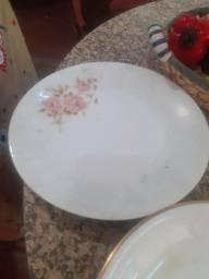 6 pratos de porcelana anos 70