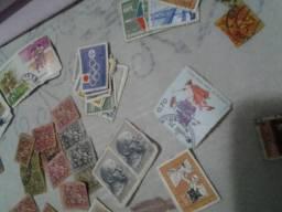 Moedas, selos e cedulas