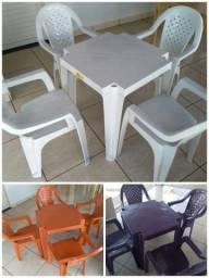 Jogo mesa plástico novas