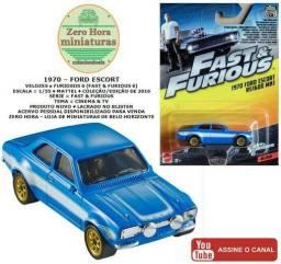 Miniatura Mattel 70 Ford Escort MK1 (Velozes e Furiosos 6) 1/55