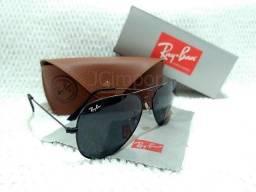 Óculos de sol Aviador Preto com lentes G-15 e proteção UV