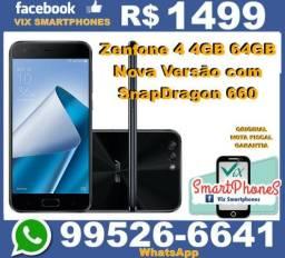 Snap_660 zenfone 4 4GB 64GB preto caixa_lacrada nota fiscal garantia 171jcib