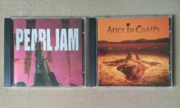 LOTE 2 CD's «PEARL JAM» + «ALICE IN CHAINS» GRUNGE