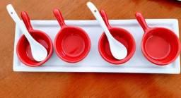 Ramekins, caçarolas, louças de porcelana para finger food