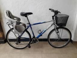 Bicicleta caloi aspen 24v Shimano alivio cadeirinha,