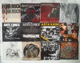 Coleção 39 Discos Vinil Punk Hardcore Metal