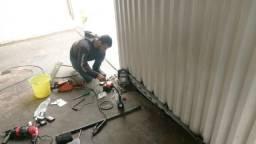 Instalação de motor rapido pra portao deslisante