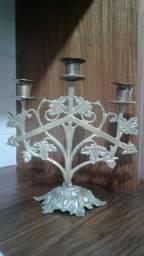 Castiçal em bronze para 3 velas