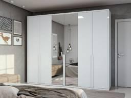 Guarda Roupa Casal Unique com Espelho 6 Portas 6 Gavetas