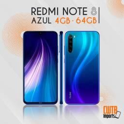Smartphone Xiaomi Redmi Note 8 4GB 64GB 48MP Azul - Novo Lacrado