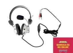 Headphone Com Microfone e Volume Plugx F-301