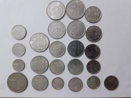 Lote com 23 moedas antigas sem repetir!