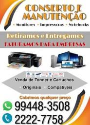 Conserto de impressoras venda de toner  e cartuchos em geral