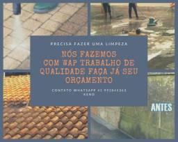 Título do anúncio: Precisa limpar seu telhado sua calha ou muro ou calçada pós obra me chama que vou
