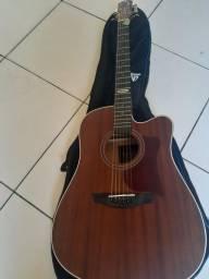 Título do anúncio: Vendo violão elétrico super novo  strenberg