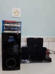 Home Theater Philco c/ Blu-Ray Player+ 7 Blu-Rays de brinde