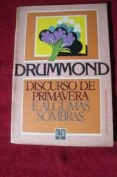 Livro: Discurso de Primavera e Algumas Sombras - Autografado - Carlos Drummond de Andrade