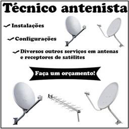 Título do anúncio: Técnico antenista - instalações de antenas de tv