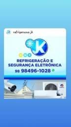 Título do anúncio: JK Refrigeração e Segurança Eletrônica