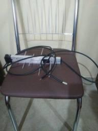 Antena digital interna e externa.