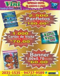 Panfletos / Cartões de Visita / Banner's