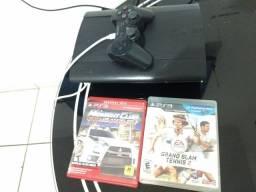 Playstation 3 +controle original, 6 jogos